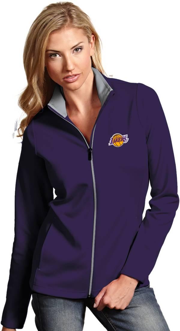 Antigua Women's Los Angeles Lakers Leader Purple Full-Zip Fleece product image