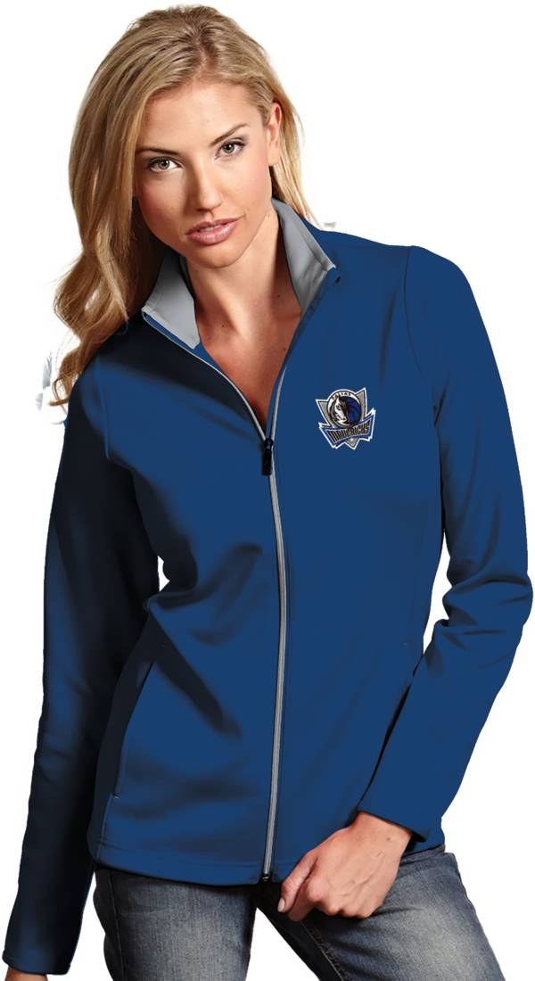 Antigua Women's Dallas Mavericks Leader Royal Full-Zip Fleece product image