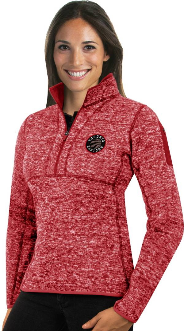 Antigua Women's Toronto Raptors Fortune Red Half-Zip Pullover product image