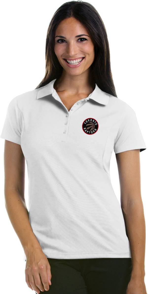 Antigua Women's Toronto Raptors Xtra-Lite White Pique Performance Polo product image