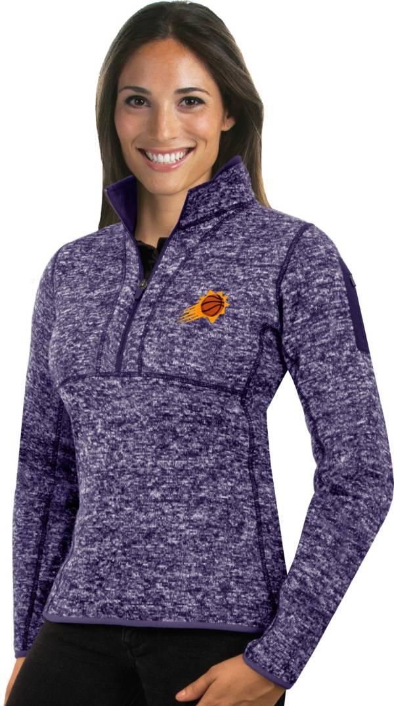 Antigua Women's Phoenix Suns Fortune Purple Half-Zip Pullover product image