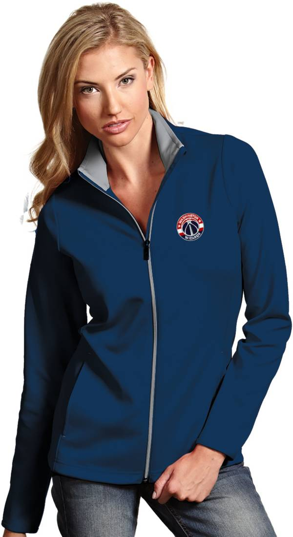Antigua Women's Washington Wizards Leader Navy Full-Zip Fleece product image