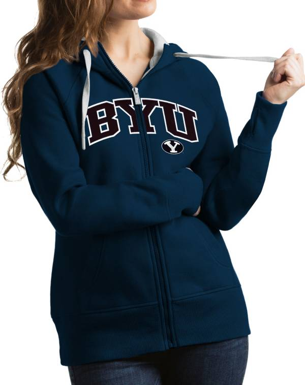 Antigua Women's BYU Cougars Blue Victory Full-Zip Hoodie product image