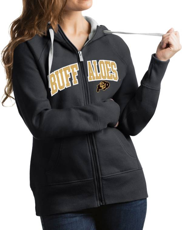 Antigua Women's Colorado Buffaloes Grey Victory Full-Zip Hoodie product image