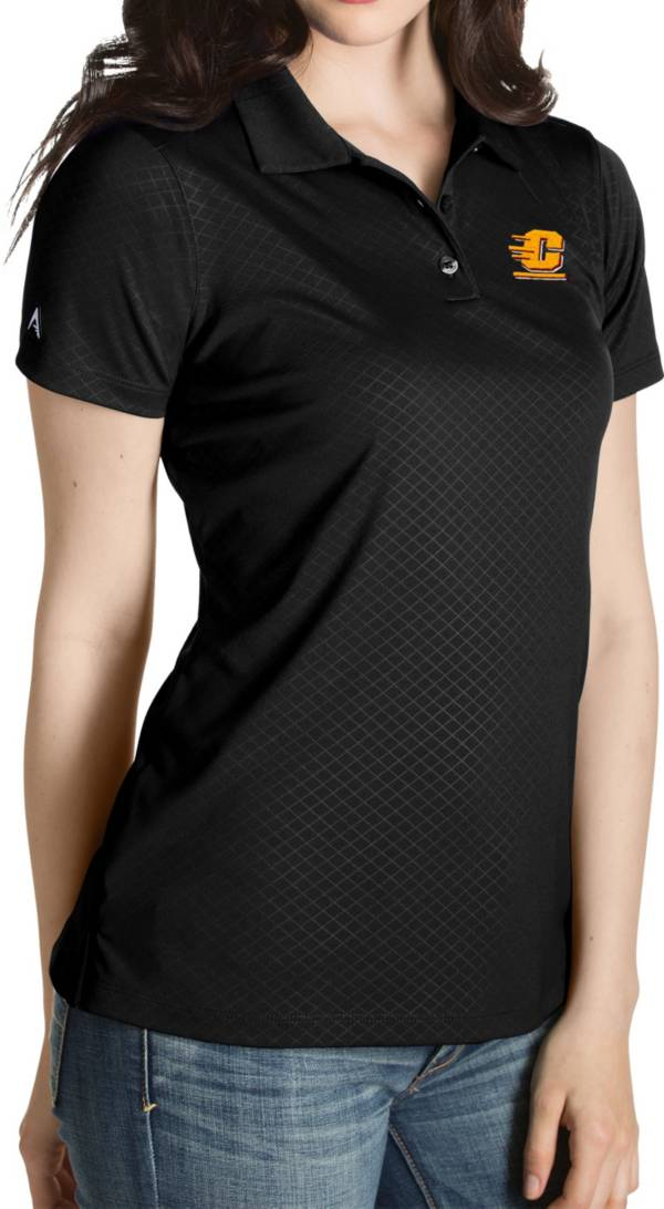 Antigua Women's Central Michigan Chippewas Black Inspire Performance Polo product image