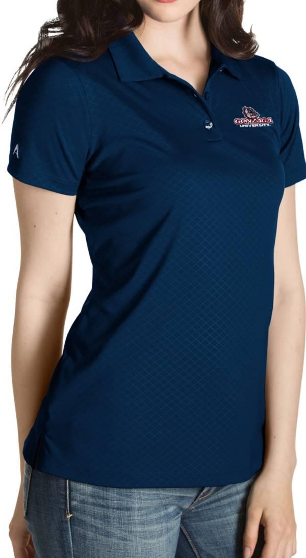 Antigua Women's Gonzaga Bulldogs Blue Inspire Performance Polo product image