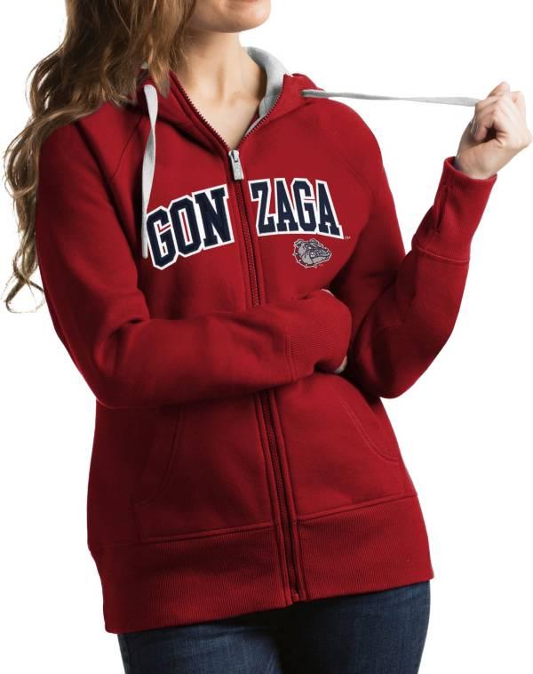Antigua Women's Gonzaga Bulldogs Red Victory Full-Zip Hoodie product image