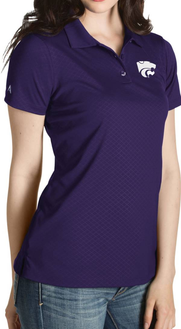Antigua Women's Kansas State Wildcats Purple Inspire Performance Polo product image