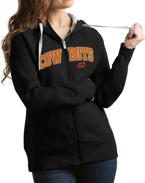 Antigua Women's Oklahoma State Cowboys Black Victory Full-Zip Hoodie product image
