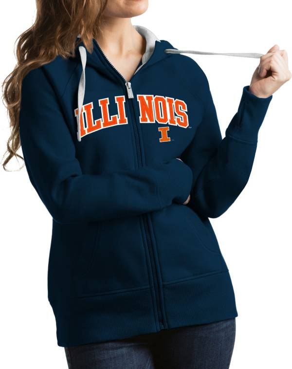 Antigua Women's Illinois Fighting Illini Blue Victory Full-Zip Hoodie product image