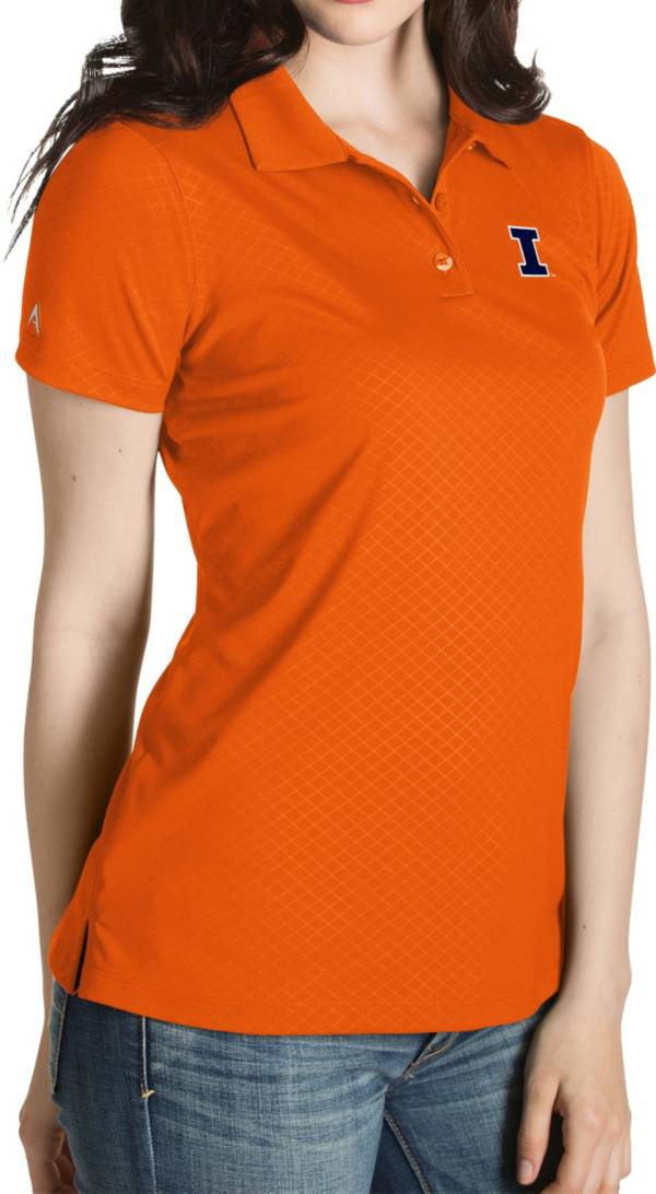 Antigua Women's Illinois Fighting Illini Orange Inspire Performance Polo product image