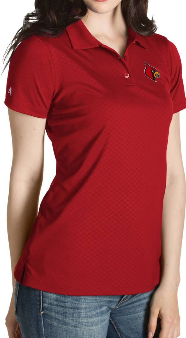 Antigua Women's Louisville Cardinals Cardinal Red Inspire Performance Polo product image