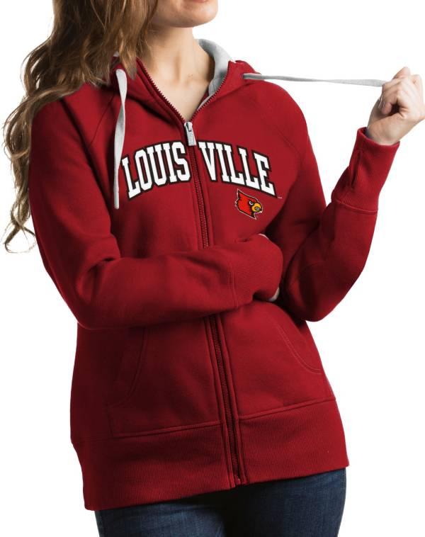 Antigua Women's Louisville Cardinals Cardinal Red Victory Full-Zip Hoodie product image