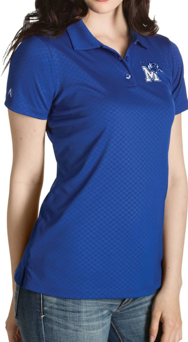 Antigua Women's Memphis Tigers Blue Inspire Performance Polo product image