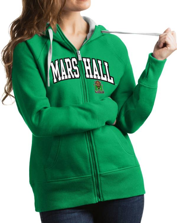 Antigua Women's Marshall Thundering Herd Green Victory Full-Zip Hoodie product image