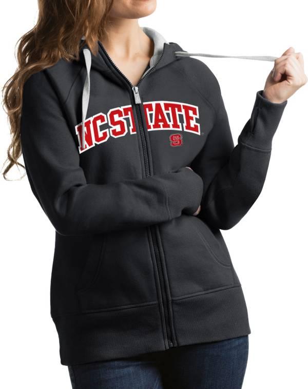 Antigua Women's NC State Wolfpack Grey Victory Full-Zip Hoodie product image