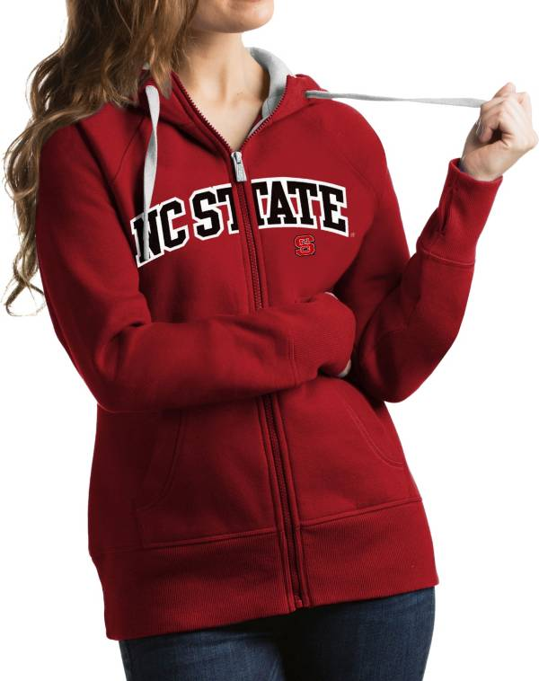 Antigua Women's NC State Wolfpack Red Victory Full-Zip Hoodie product image