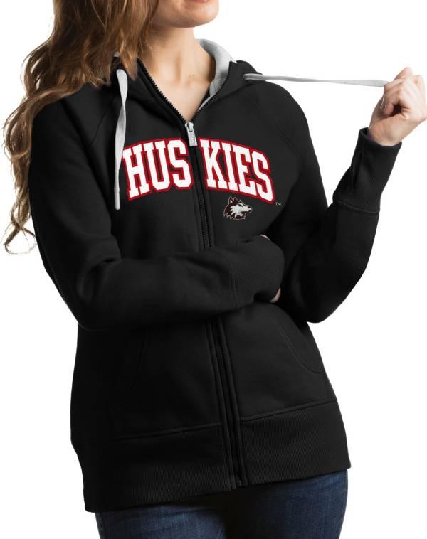 Antigua Women's Northern Illinois Huskies Black Victory Full-Zip Hoodie product image