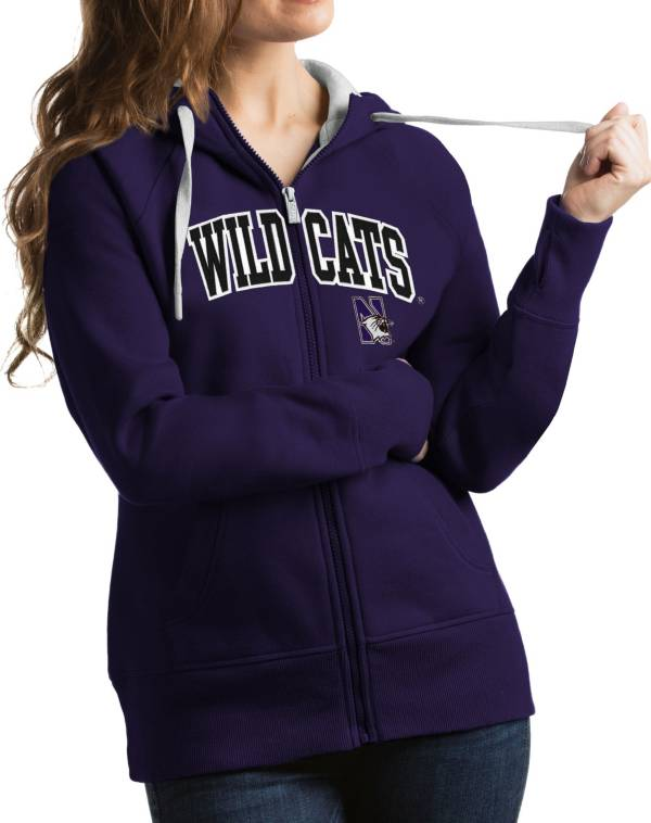 Antigua Women's Northwestern Wildcats Purple Victory Full-Zip Hoodie product image