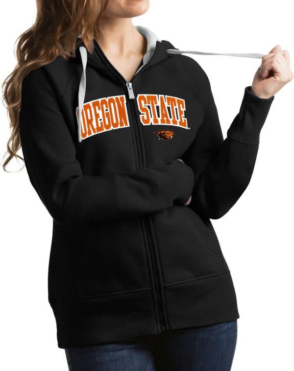 Antigua Women's Oregon State Beavers Black Victory Full-Zip Hoodie product image