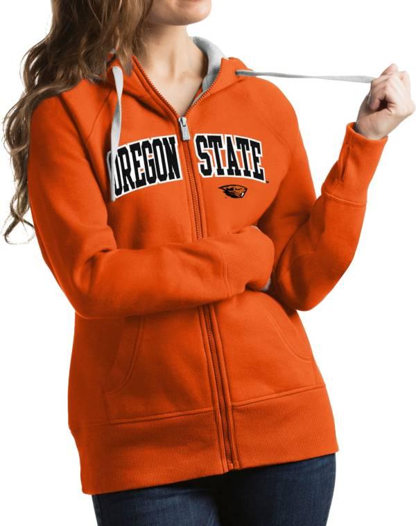 Antigua Women's Oregon State Beavers Orange Victory Full-Zip Hoodie product image