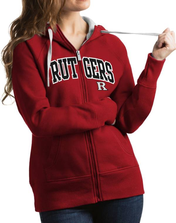 Antigua Women's Rutgers Scarlet Knights Scarlet Victory Full-Zip Hoodie product image