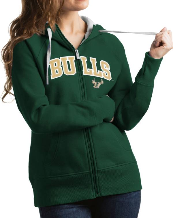 Antigua Women's South Florida Bulls Green Victory Full-Zip Hoodie product image