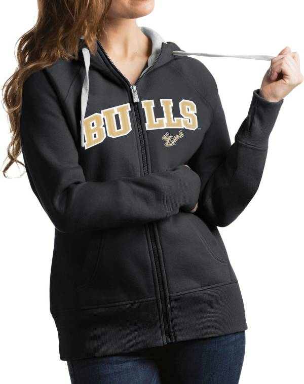 Antigua Women's South Florida Bulls Grey Victory Full-Zip Hoodie product image