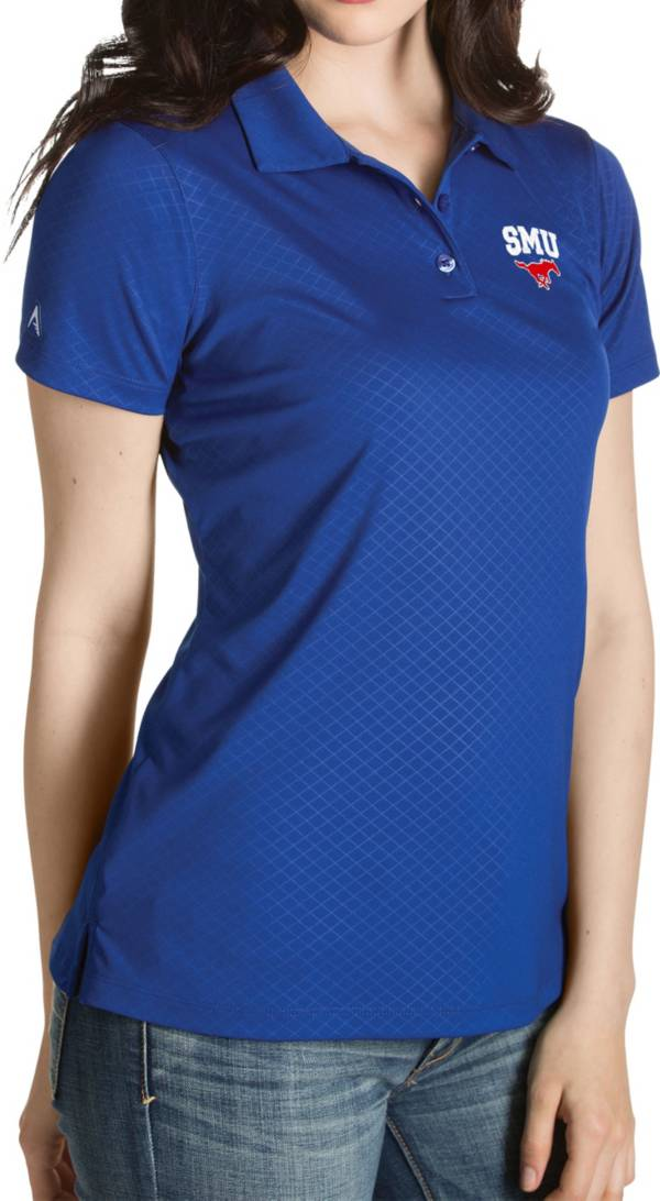 Antigua Women's Southern Methodist Mustangs Blue Inspire Performance Polo product image