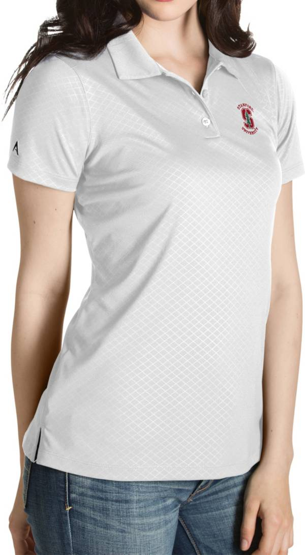 Antigua Women's Stanford Cardinal White Inspire Performance Polo product image