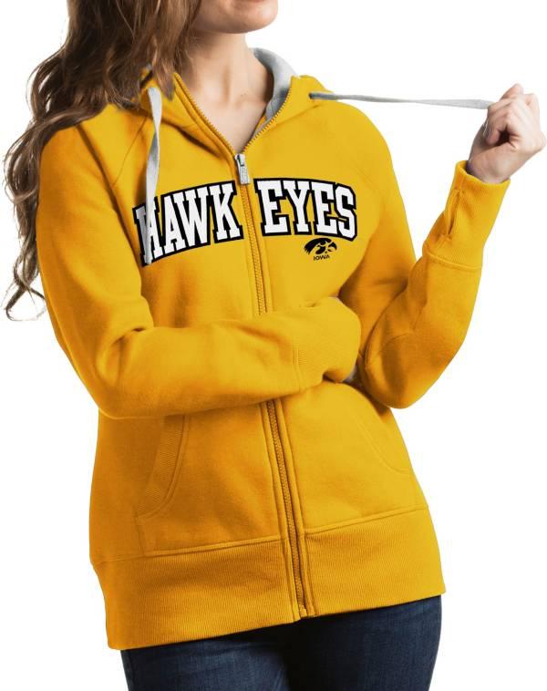 Antigua Women's Iowa Hawkeyes Gold Victory Full-Zip Hoodie product image