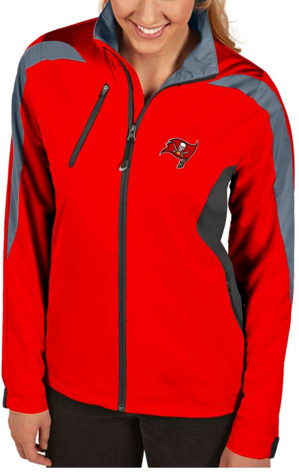 Antigua Women's Tampa Bay Buccaneers Discover Full-Zip Red Jacket product image