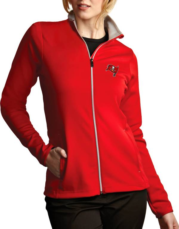 Antigua Women's Tampa Bay Buccaneers Leader Full-Zip Red Jacket product image
