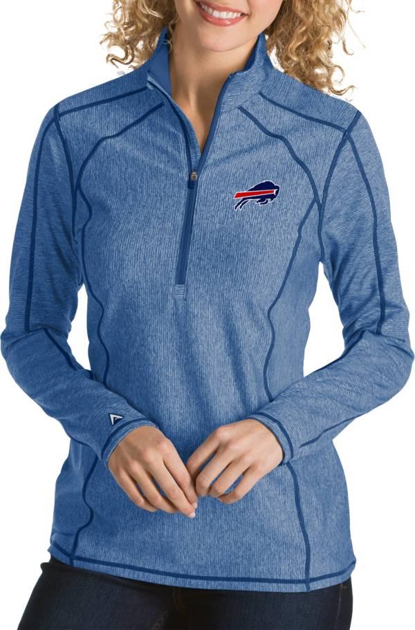 Antigua Women's Buffalo Bills Tempo Navy Quarter-Zip Pullover product image