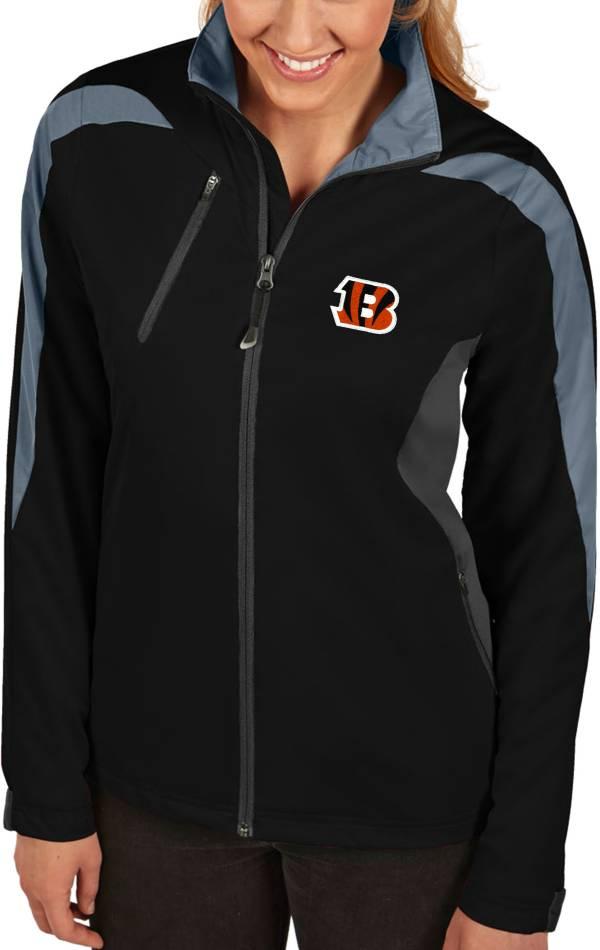 Antigua Women's Cincinnati Bengals Discover Full-Zip Black Jacket product image