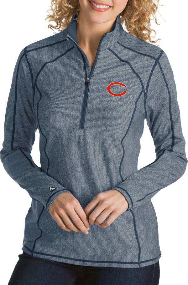 Antigua Women's Chicago Bears Tempo Navy Quarter-Zip Pullover product image