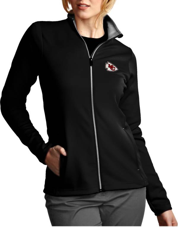 Antigua Women's Kansas City Chiefs Leader Full-Zip Black Jacket product image