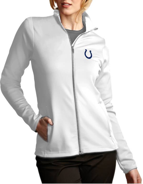 Antigua Women's Indianapolis Colts Leader Full-Zip White Jacket product image