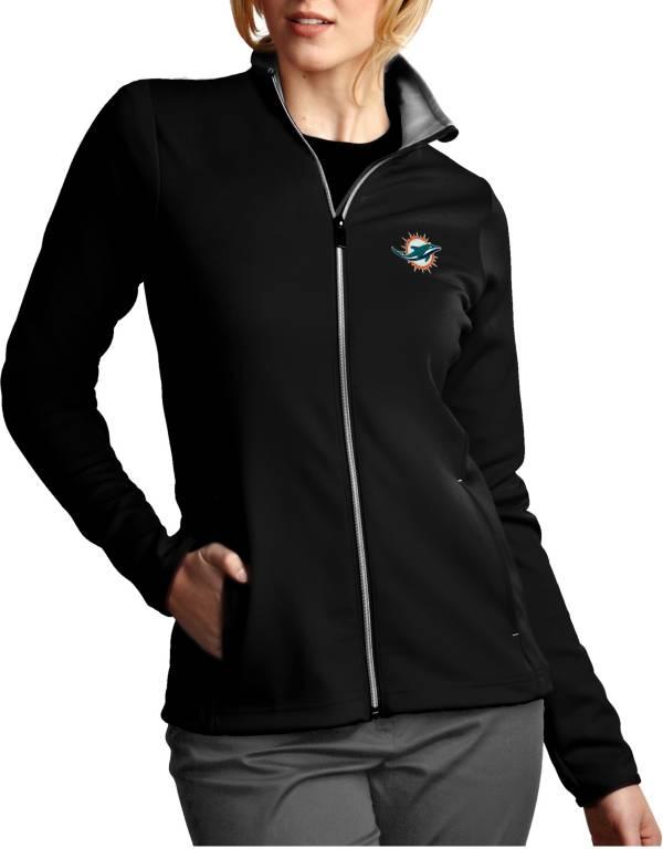 Antigua Women's Miami Dolphins Leader Full-Zip Black Jacket product image