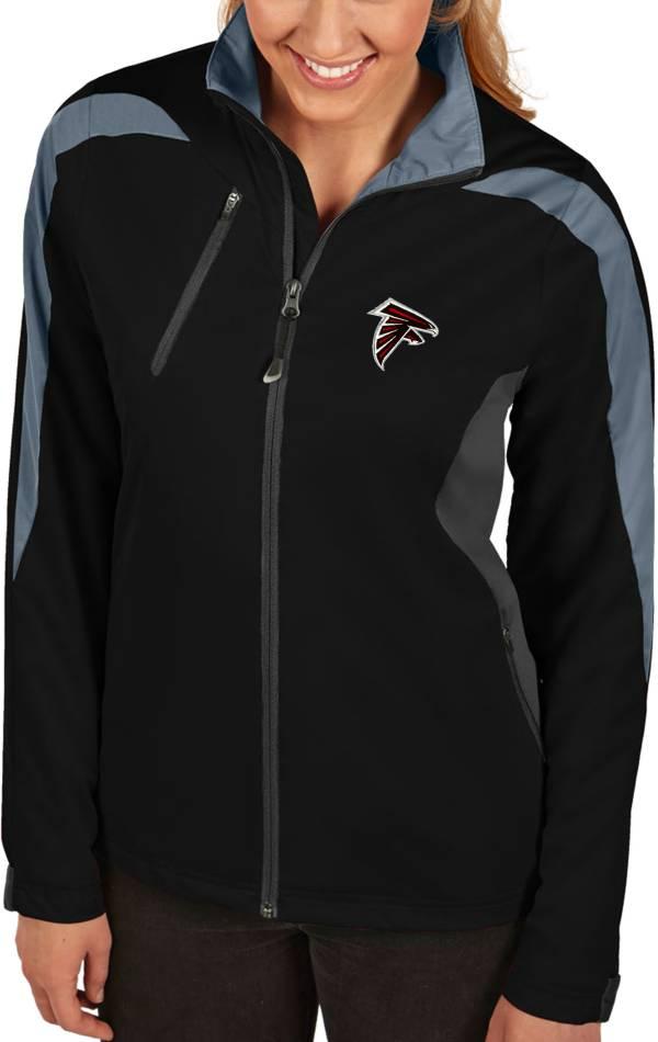 Antigua Women's Atlanta Falcons Discover Full-Zip Black Jacket product image