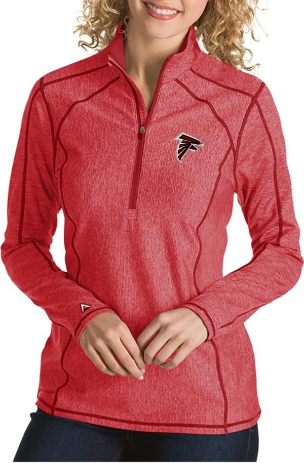 Antigua Women's Atlanta Falcons Tempo Red Quarter-Zip Pullover product image