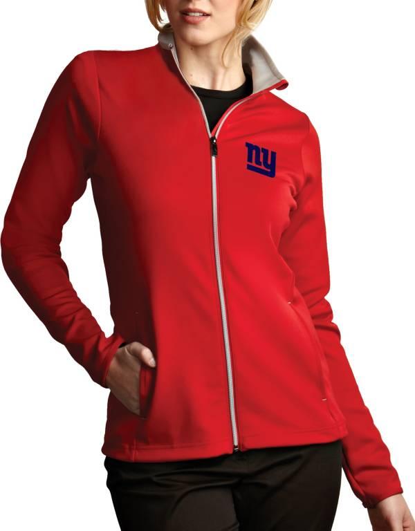 Antigua Women's New York Giants Leader Full-Zip Red Jacket product image