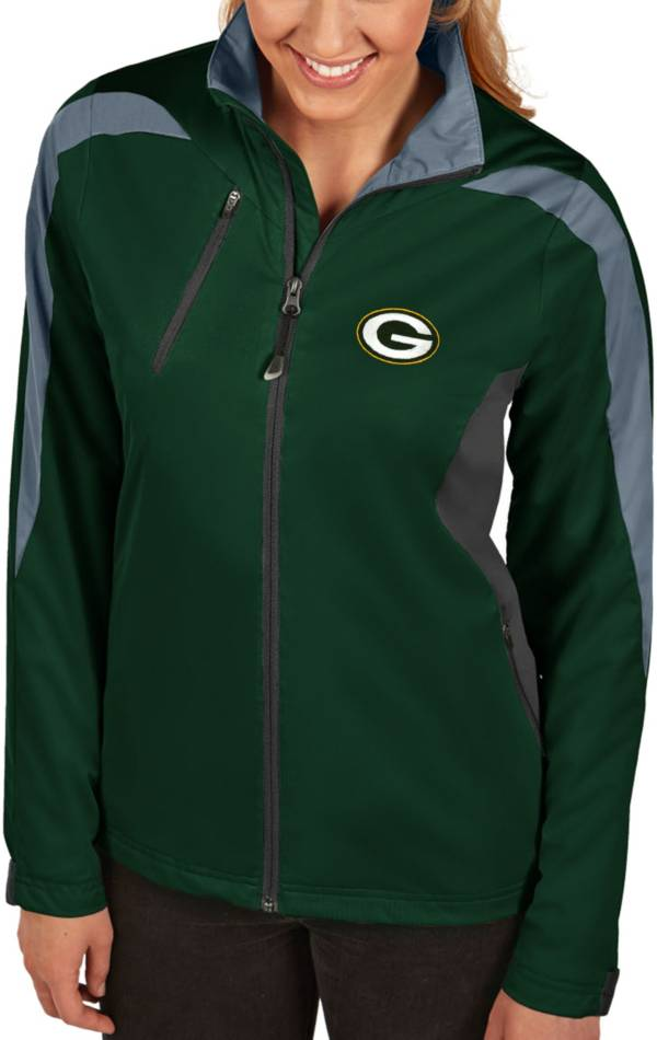 Antigua Women's Green Bay Packers Discover Full-Zip Green Jacket product image