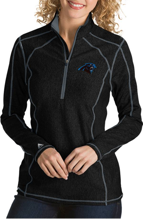 Antigua Women's Carolina Panthers Tempo Black Quarter-Zip Pullover product image