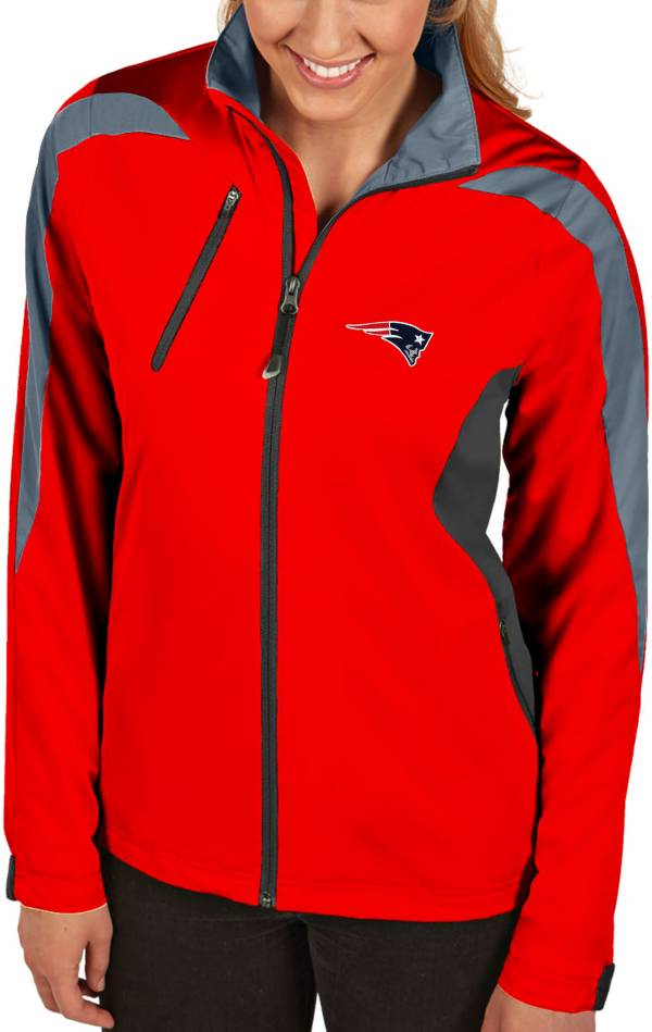 Antigua Women's New England Patriots Discover Full-Zip Red Jacket product image