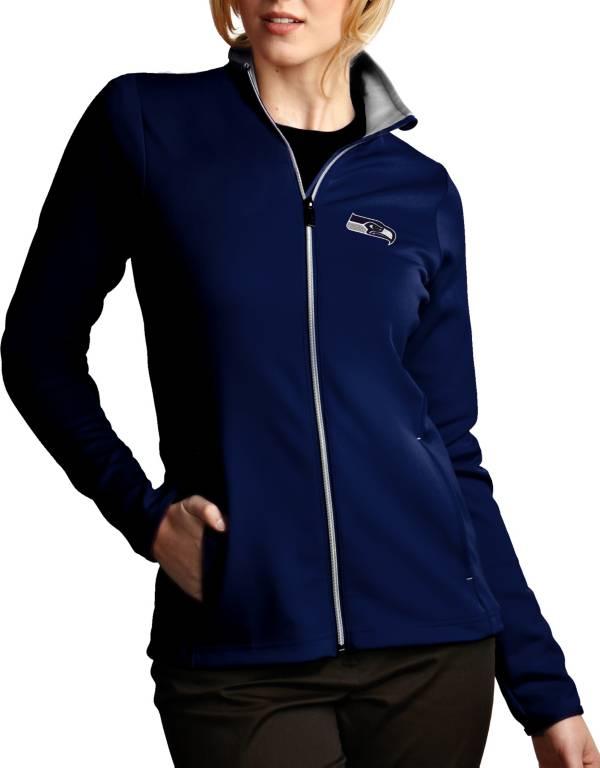 Antigua Women's Seattle Seahawks Leader Full-Zip Navy Jacket product image