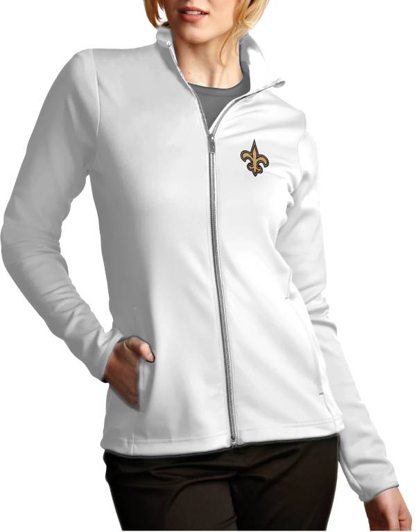 Antigua Women's New Orleans Saints Leader Full-Zip White Jacket product image