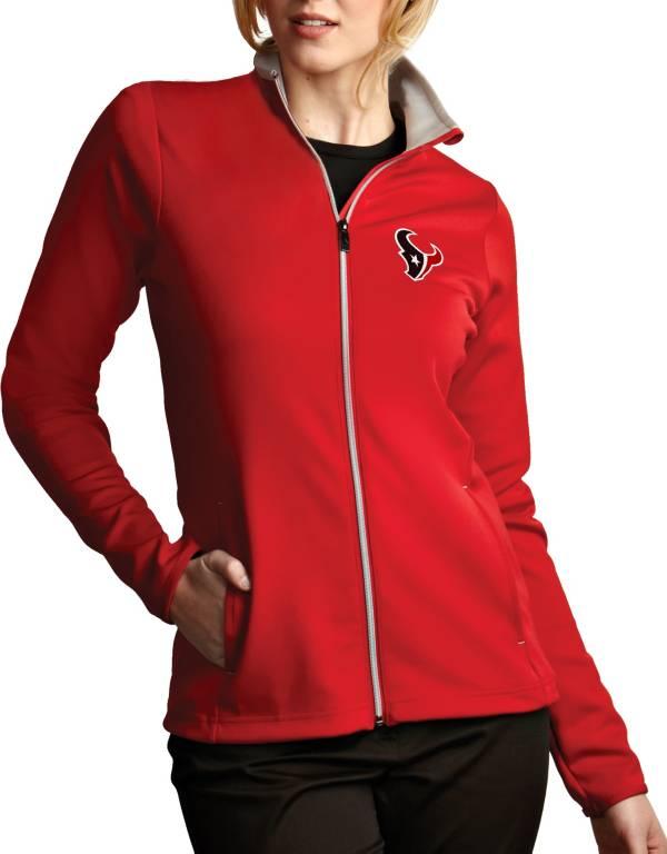 Antigua Women's Houston Texans Leader Full-Zip Red Jacket product image