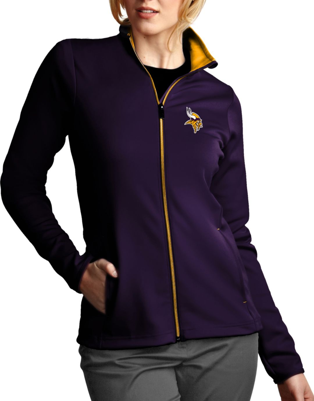 info for eadd1 5ccae Antigua Women's Minnesota Vikings Leader Full-Zip Purple Jacket