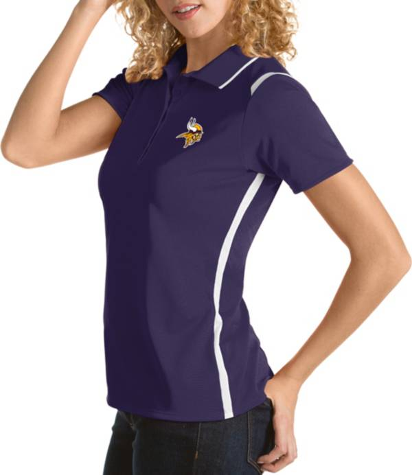 Antigua Women's Minnesota Vikings Merit Purple Xtra-Lite Pique Polo product image